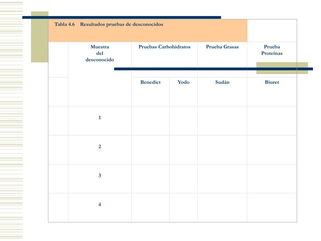 Tabla 4.6    Resultados pruebas de desconocidos