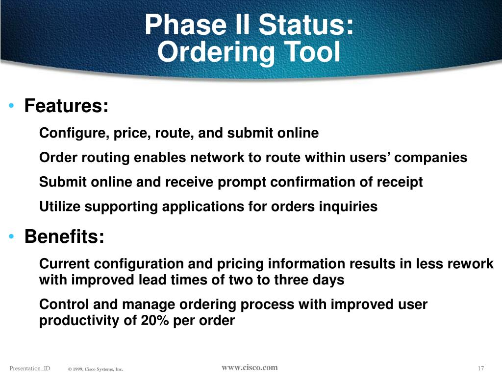 Phase II Status: