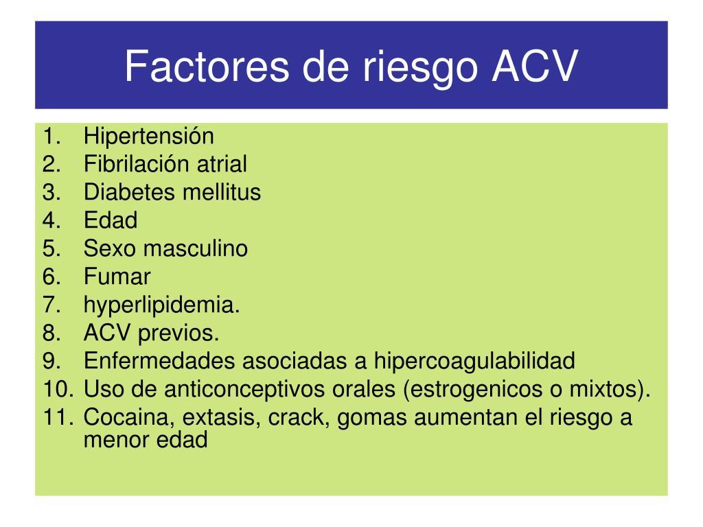 Factores de riesgo ACV