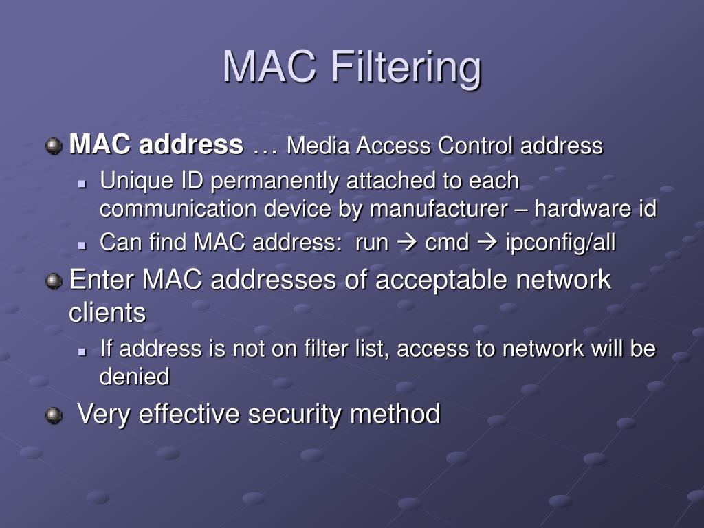 MAC Filtering