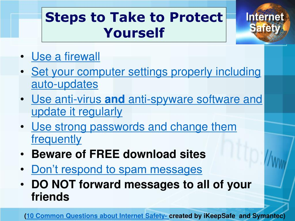 Steps to Take to Protect Yourself