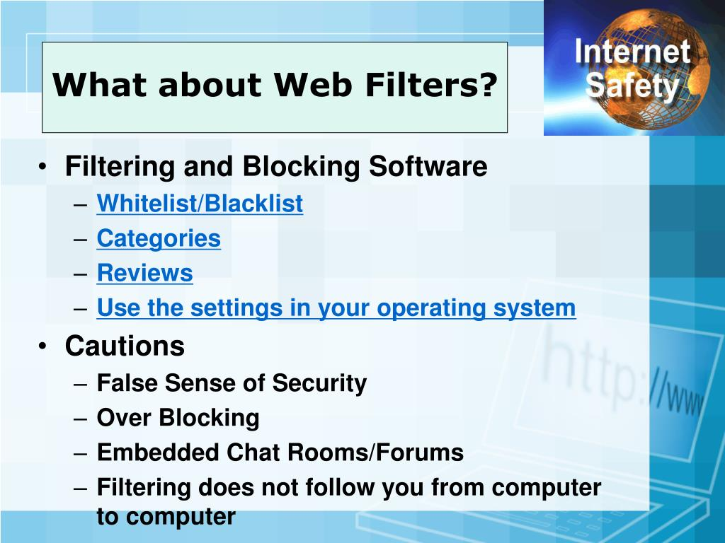 What about Web Filters?
