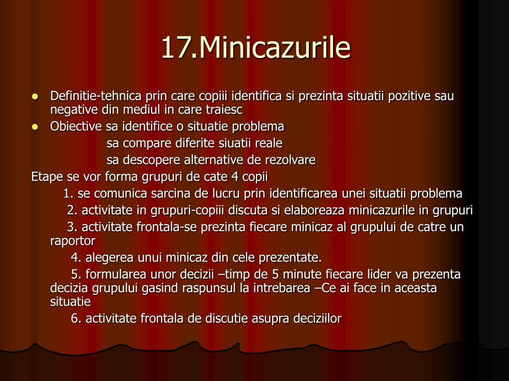 17.Minicazurile