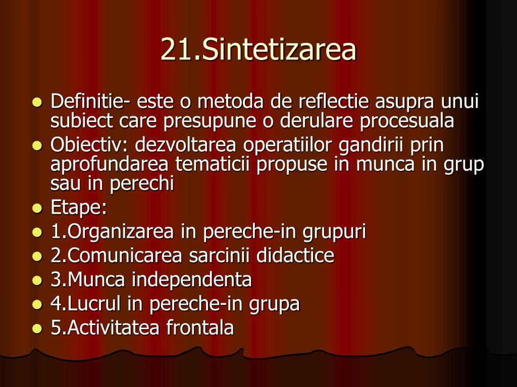 21.Sintetizarea