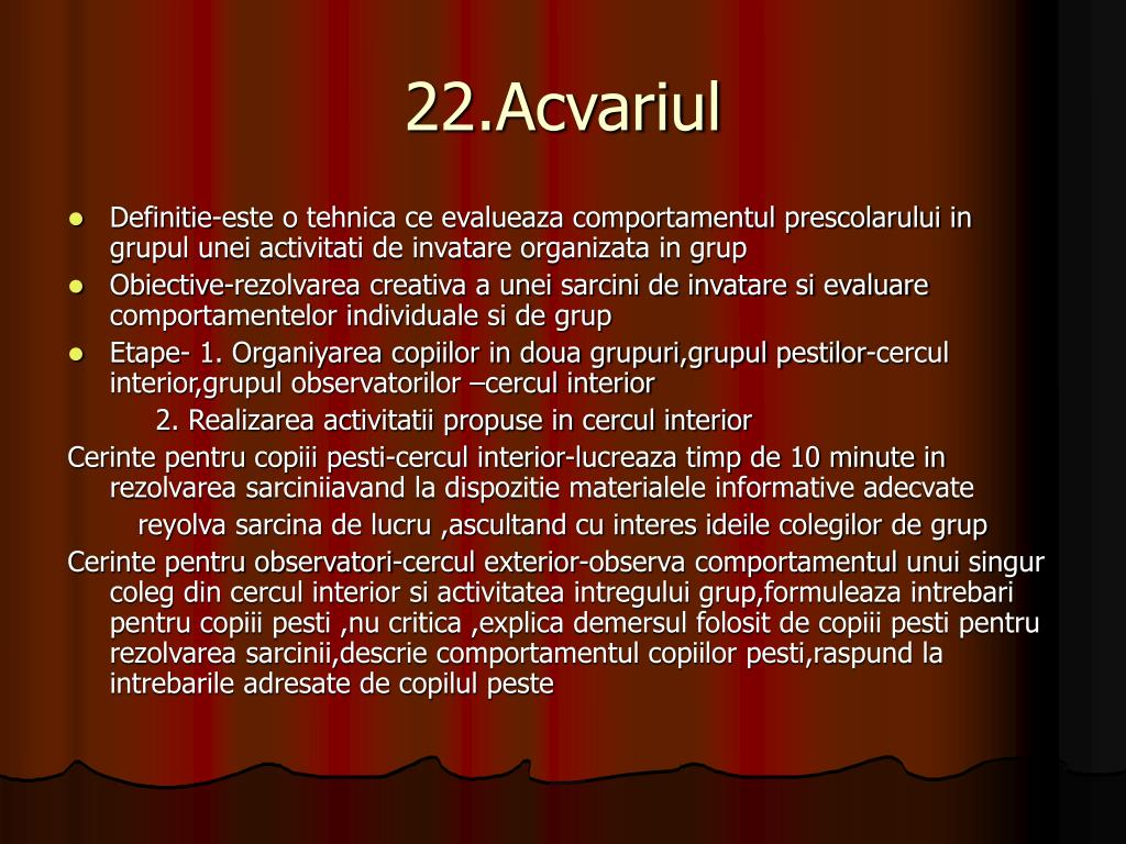 22.Acvariul
