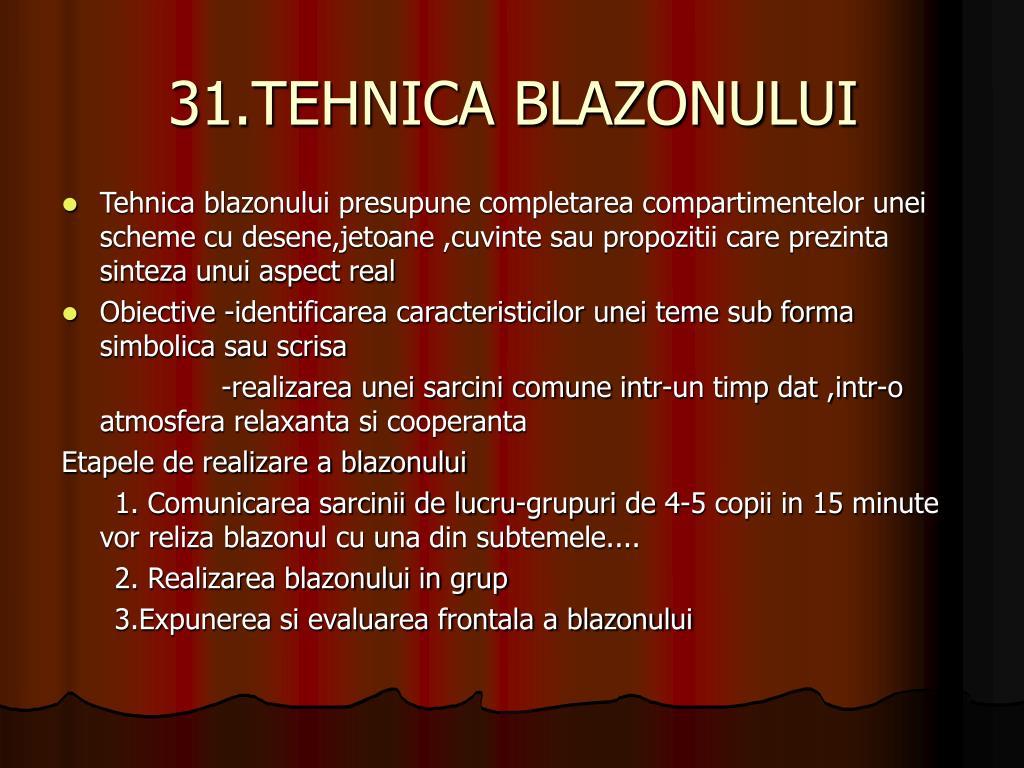 31.TEHNICA BLAZONULUI