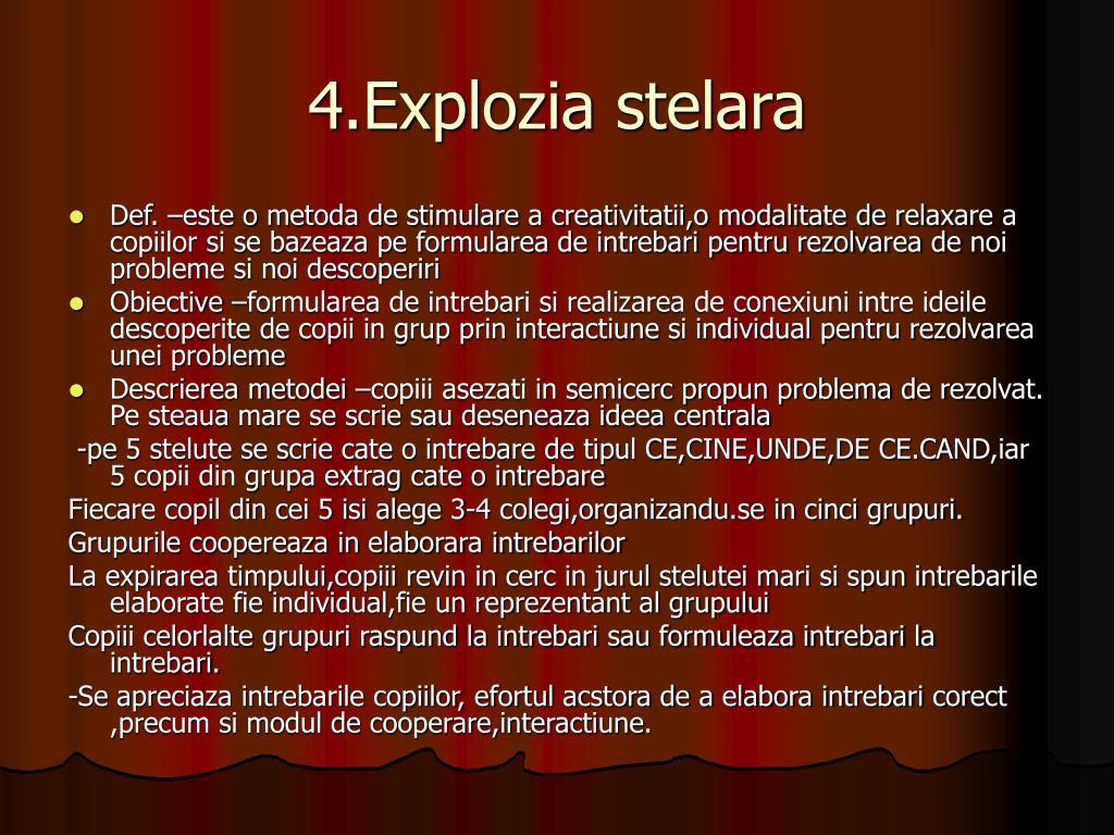 4.Explozia stelara