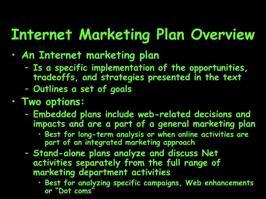 Internet Marketing Plan Overview