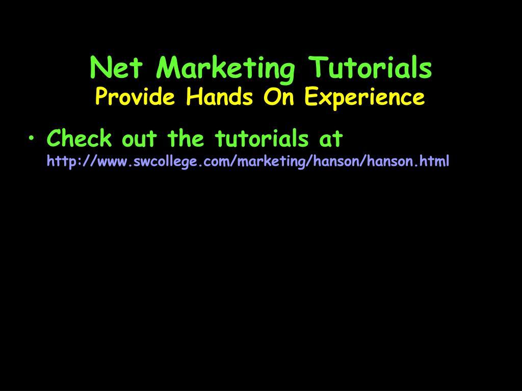 Net Marketing Tutorials