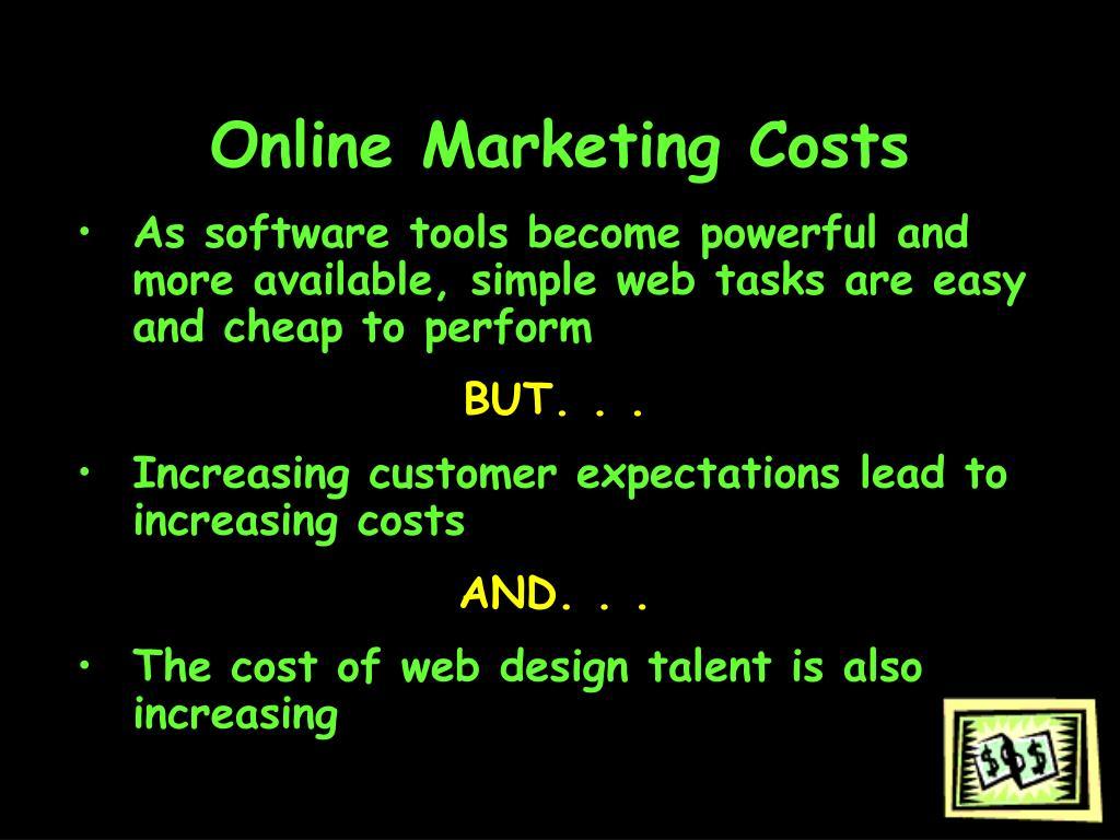Online Marketing Costs