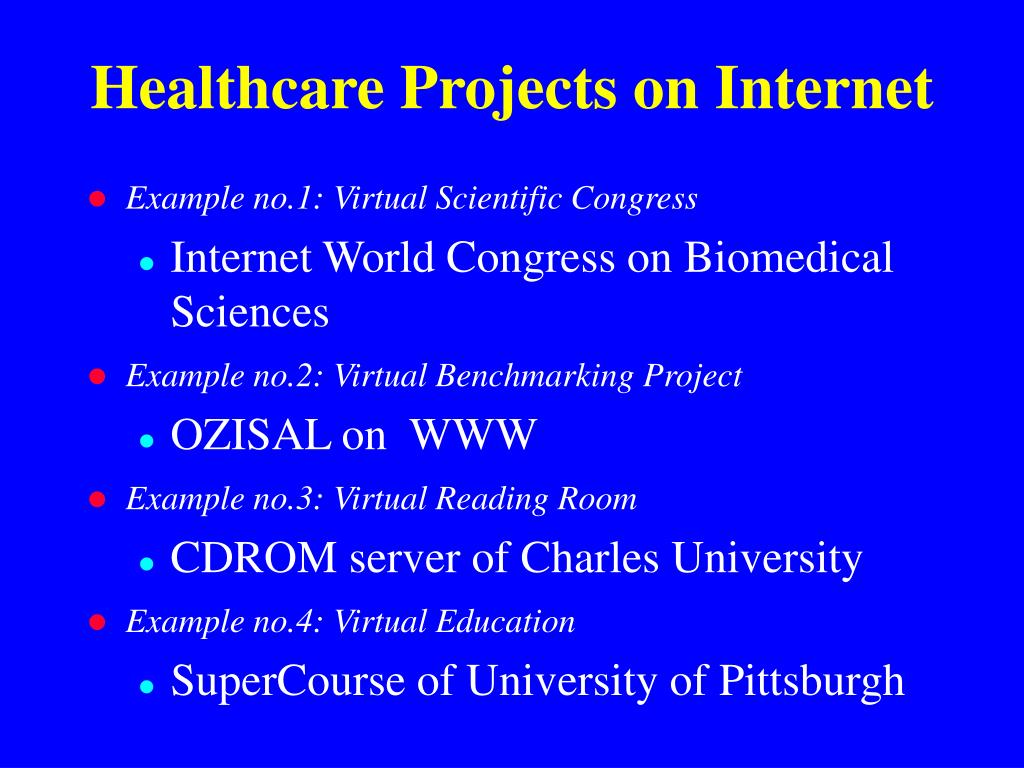 Healthcare Projects on Internet