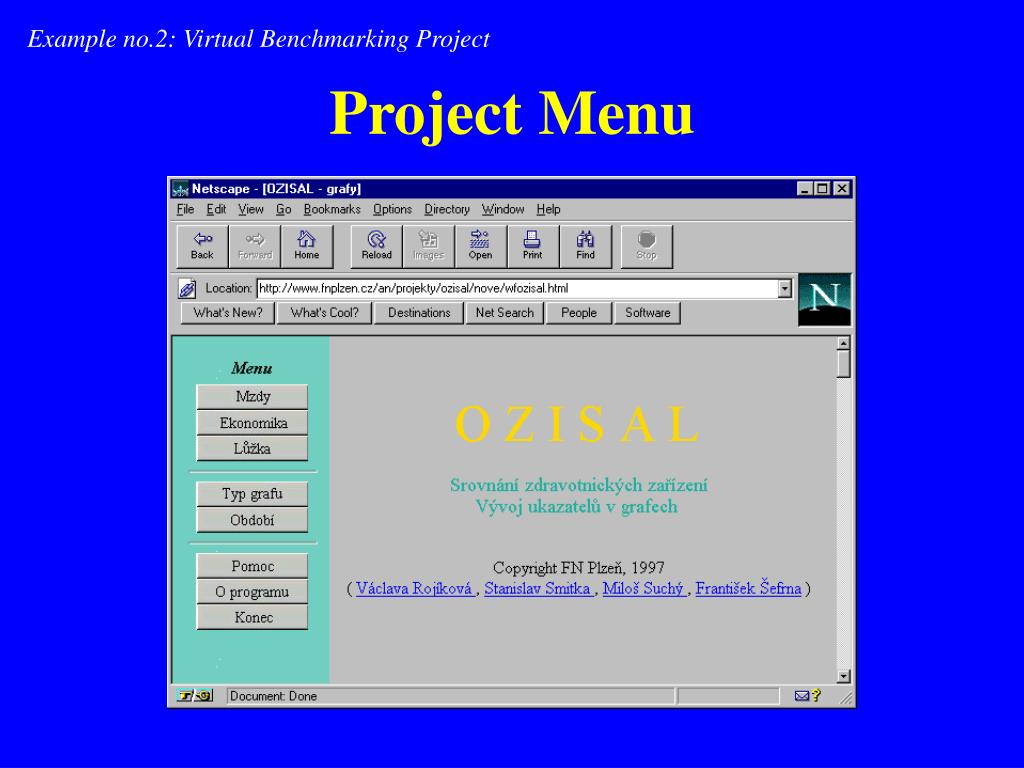 Example no.2: Virtual Benchmarking Project