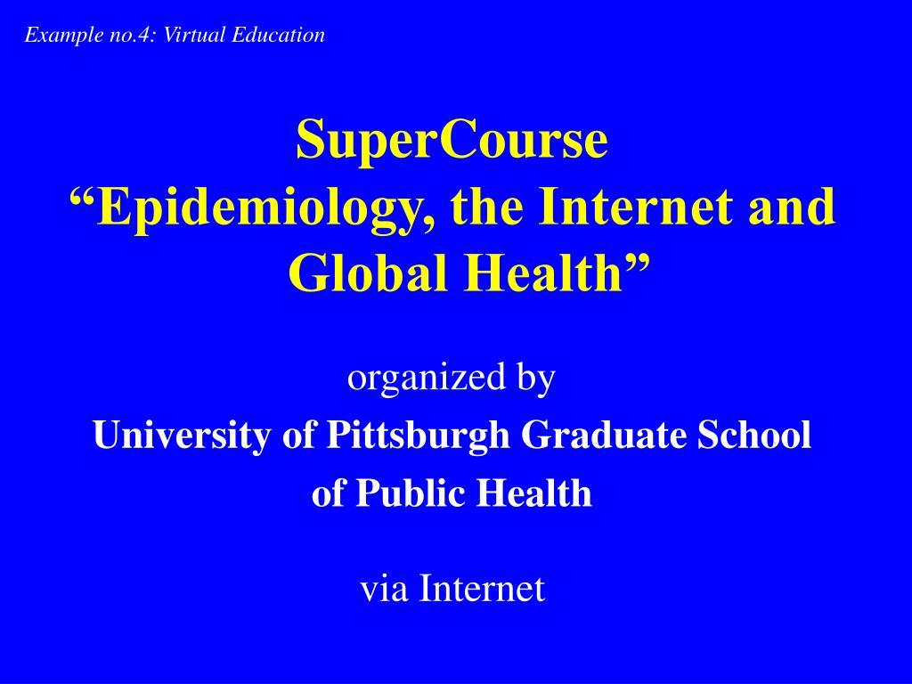 Example no.4: Virtual Education