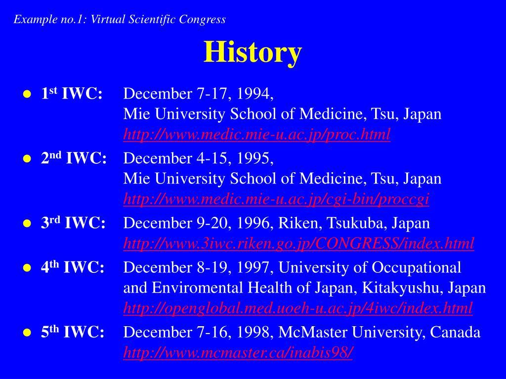 Example no.1: Virtual Scientific Congress
