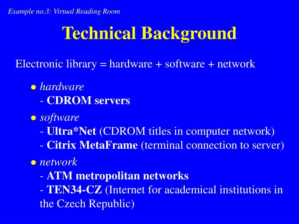 Example no.3: Virtual Reading Room