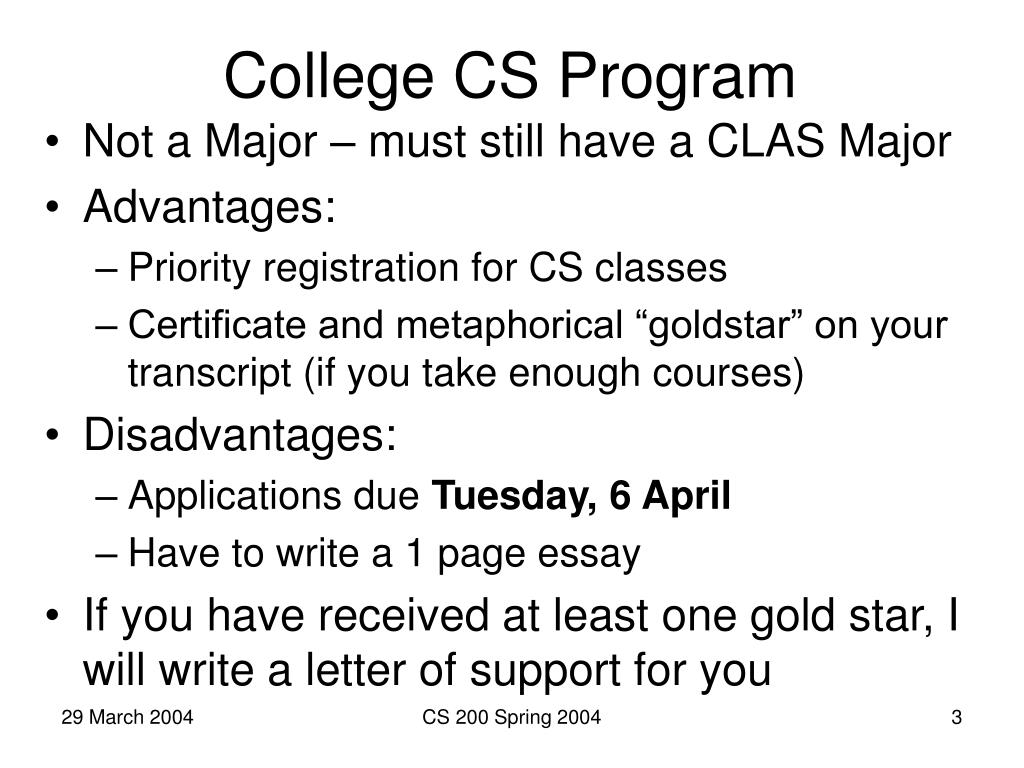 College CS Program