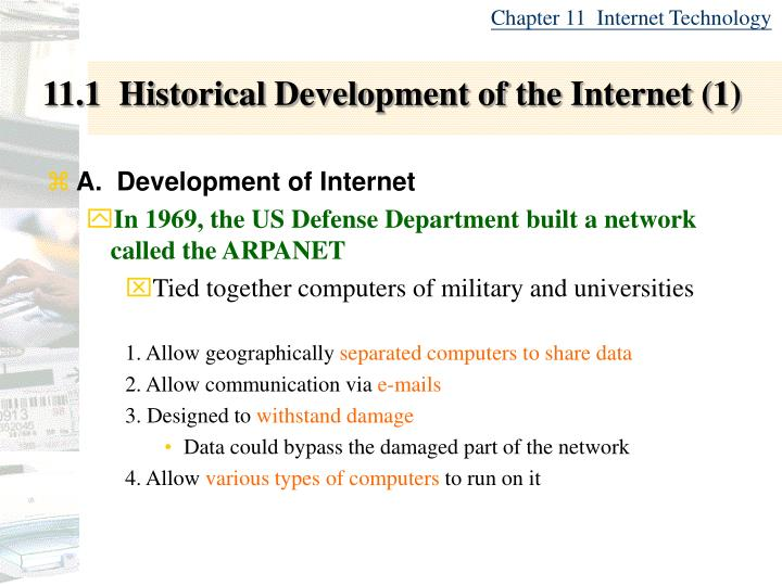 11 1 historical development of the internet 1