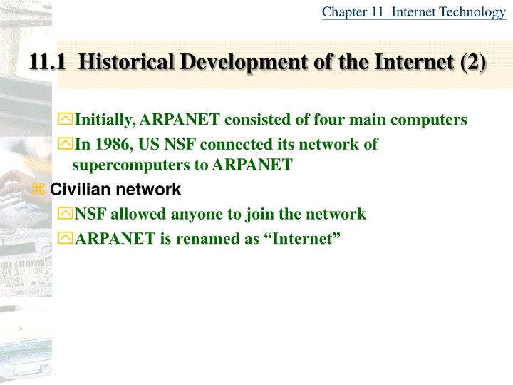 11 1 historical development of the internet 2