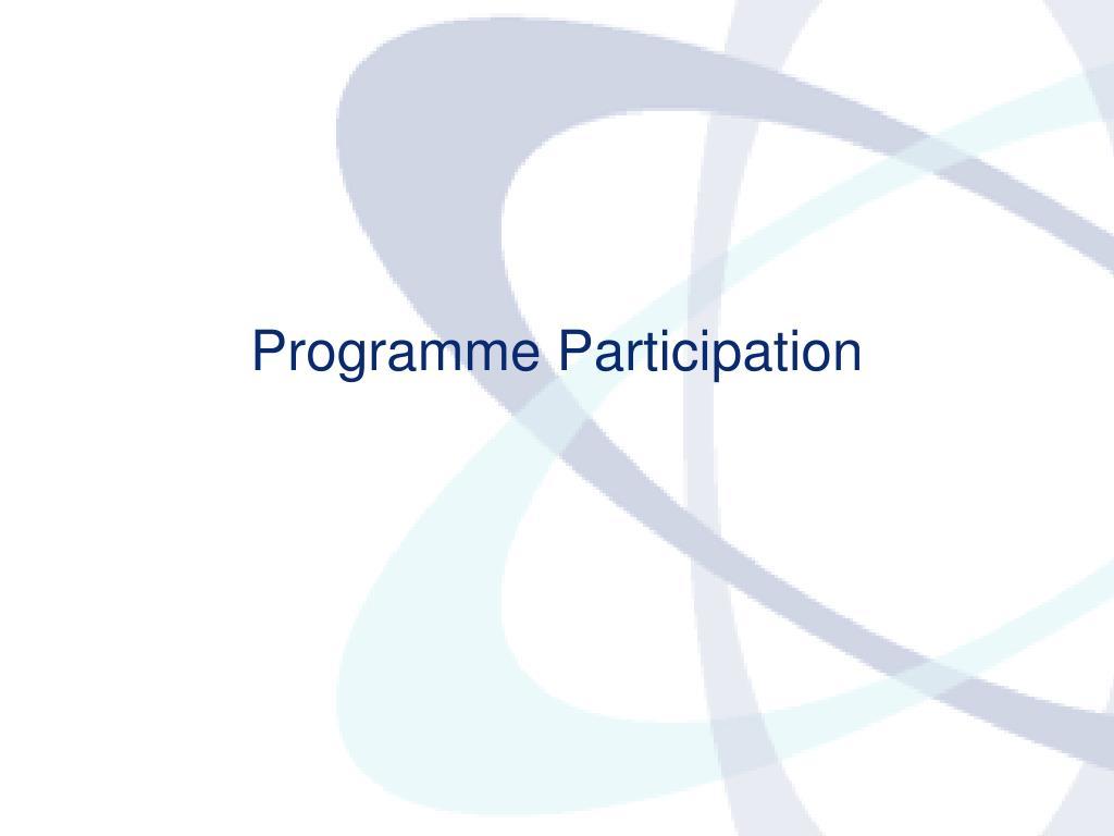 Programme Participation