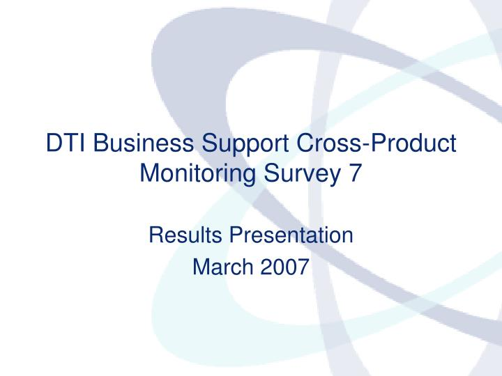 Results presentation march 2007