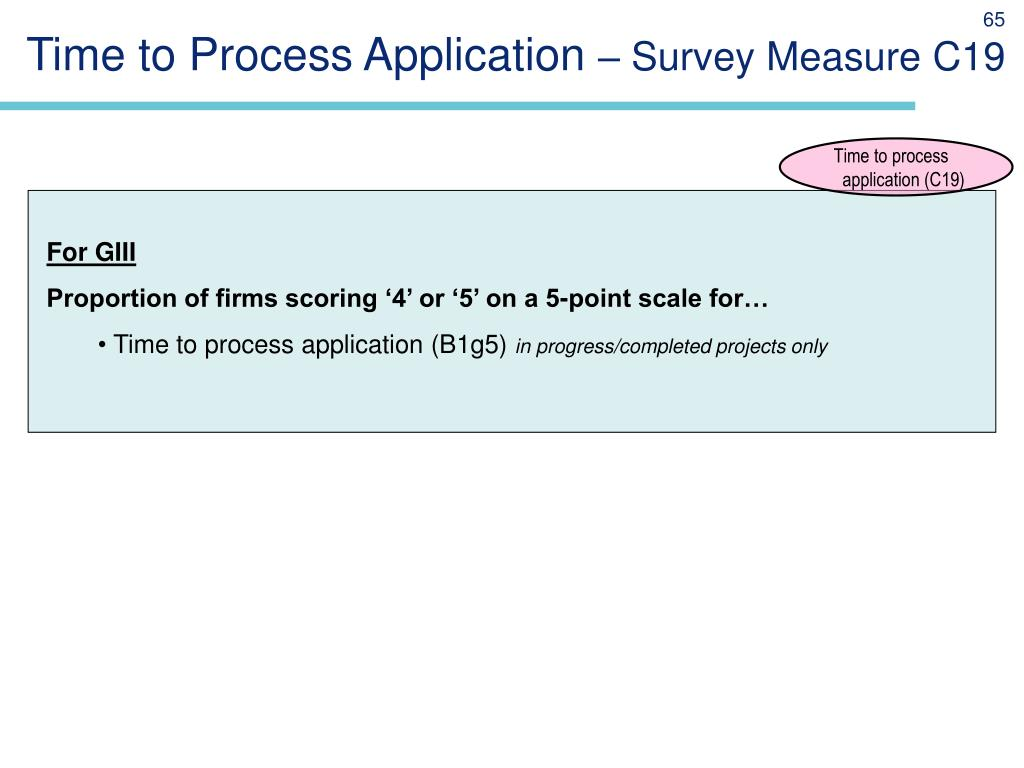 Time to Process Application