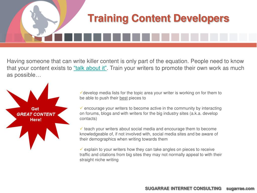 Training Content Developers