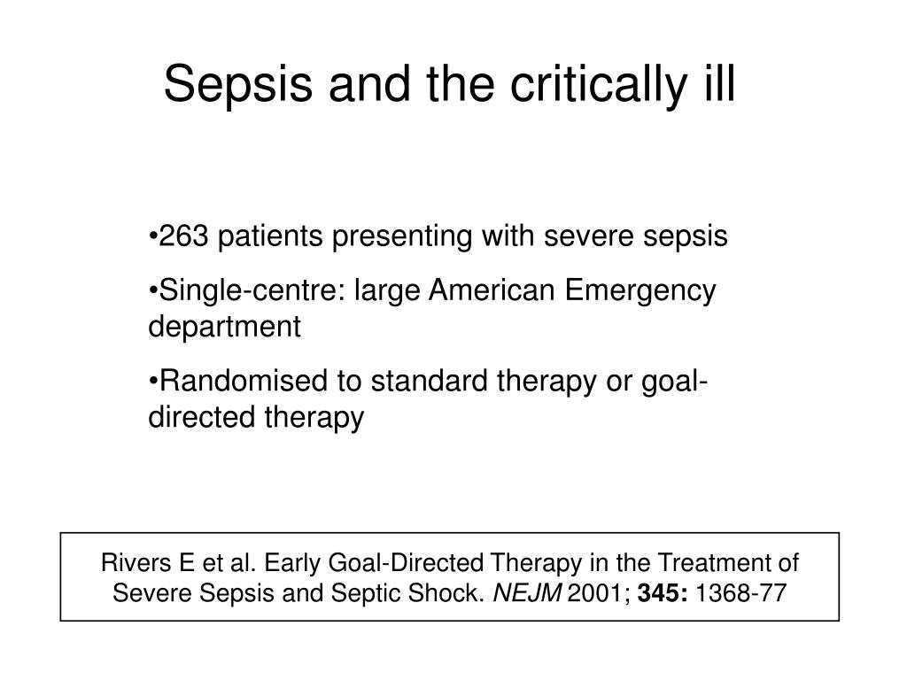 Sepsis and the critically ill