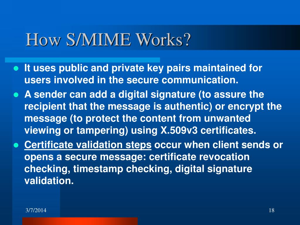 How S/MIME Works?