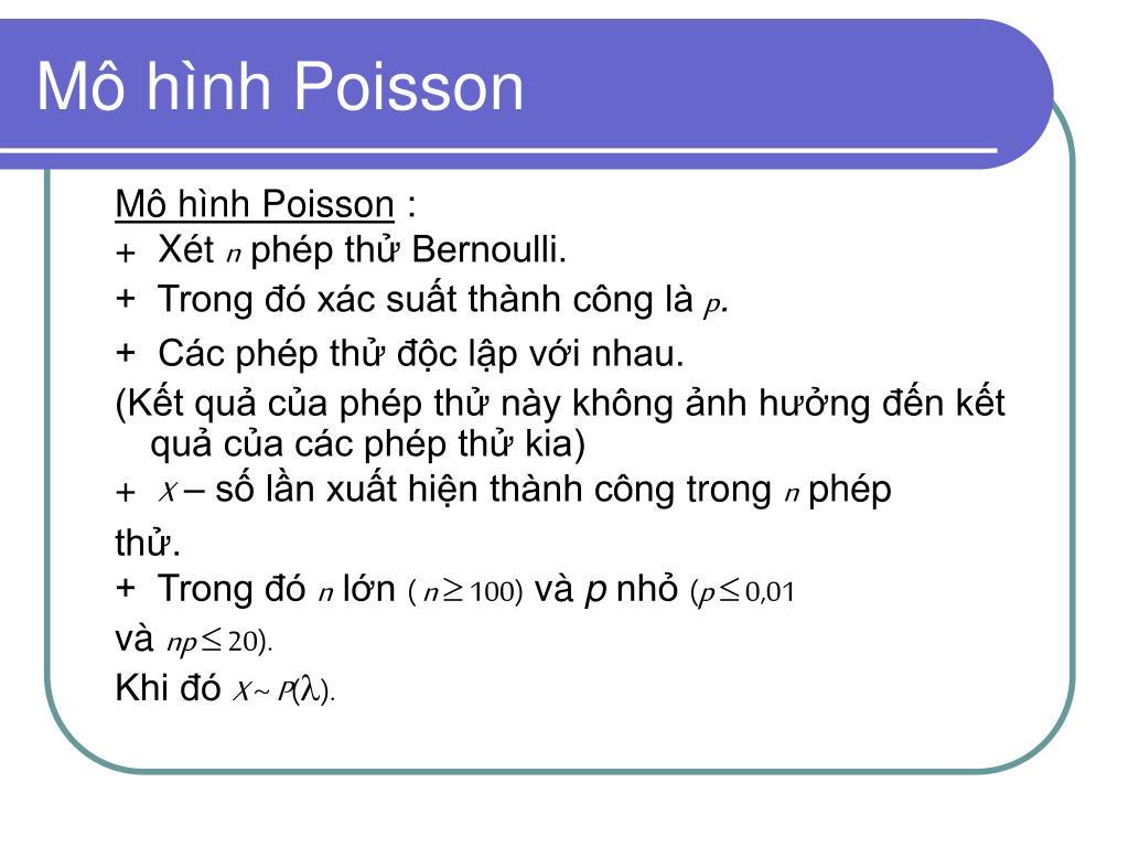 Mô hình Poisson