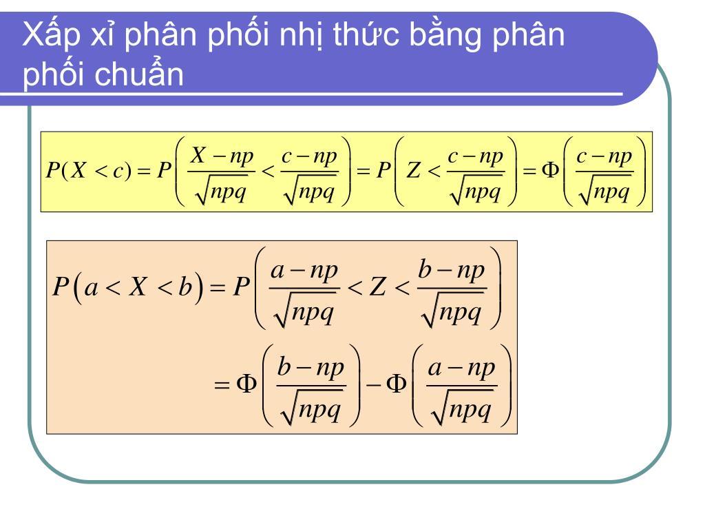 Xấp xỉ phân phối nhị thức bằng phân phối chuẩn