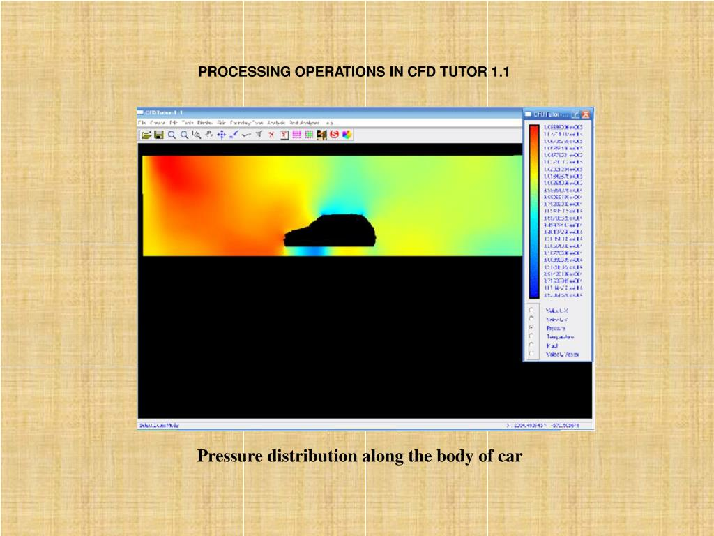 PROCESSING OPERATIONS IN CFD TUTOR 1.1