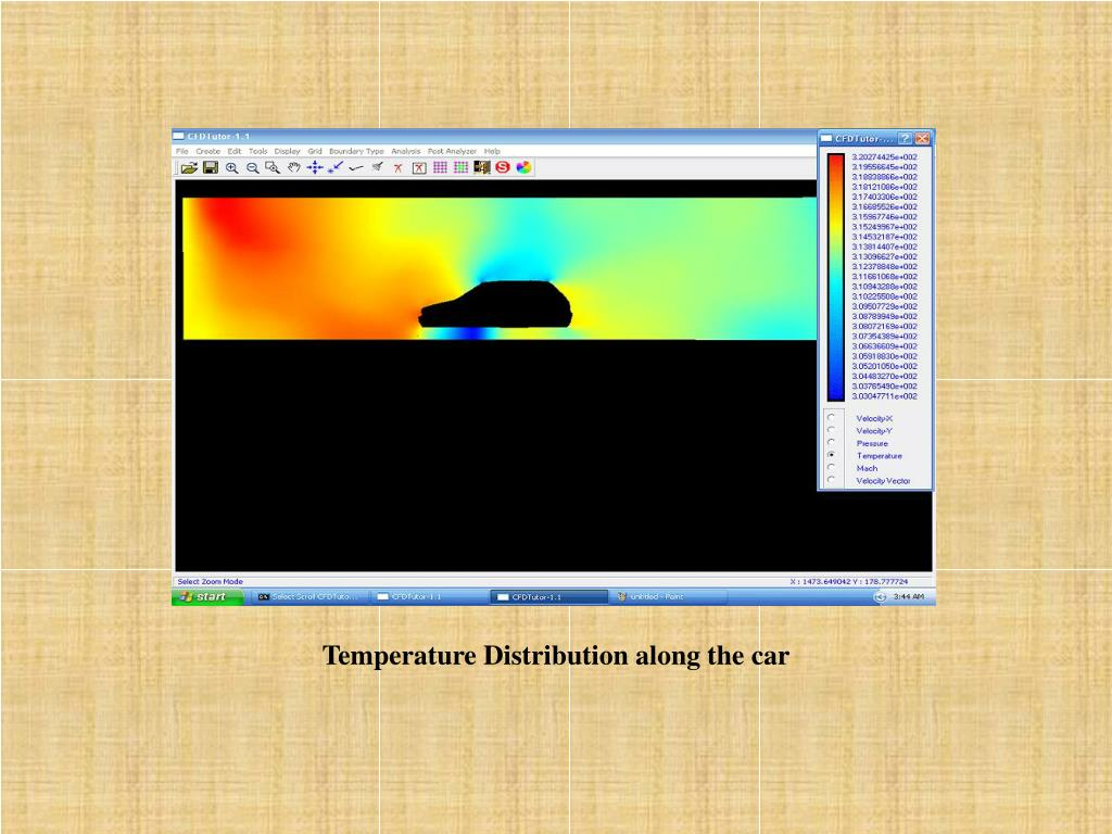 Temperature Distribution along the car