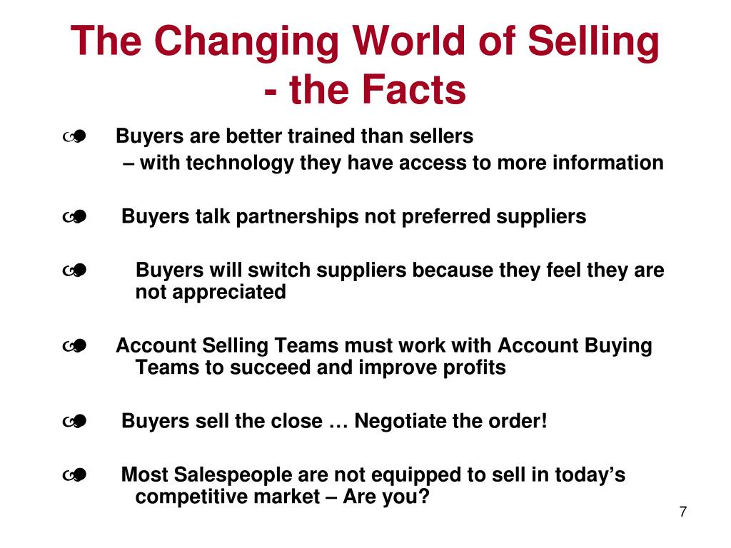 The Changing World of Selling