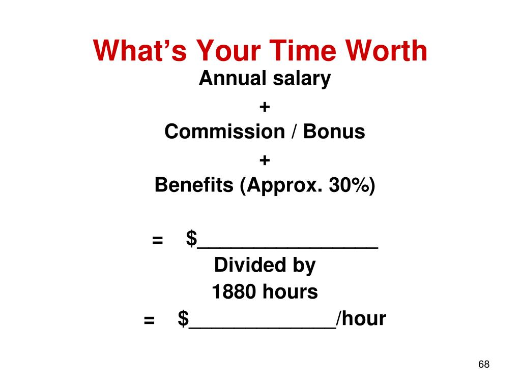 What's Your Time Worth