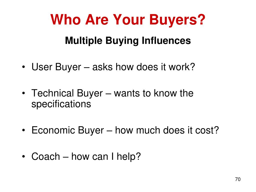 Who Are Your Buyers?