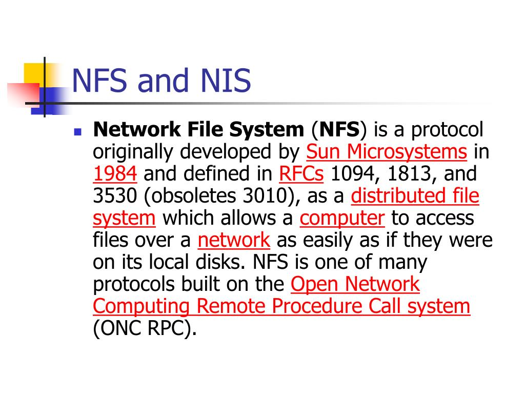 NFS and NIS