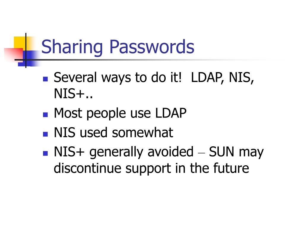 Sharing Passwords