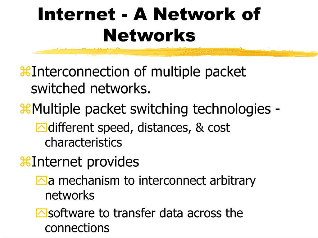 Internet - A Network of Networks