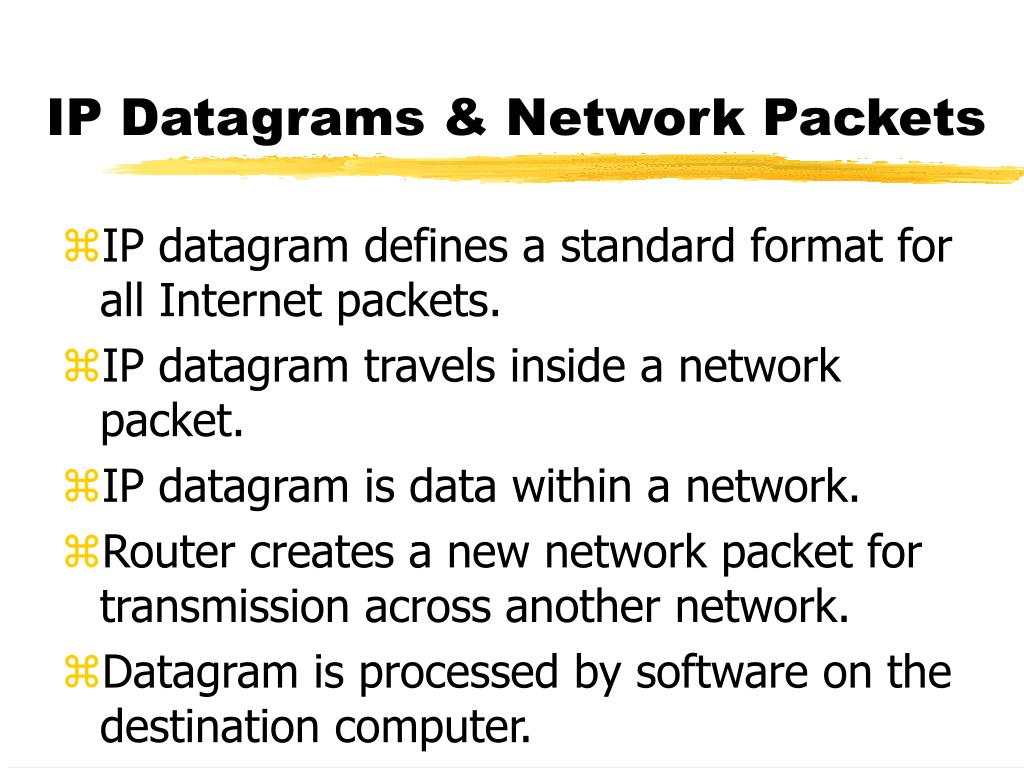 IP Datagrams & Network Packets
