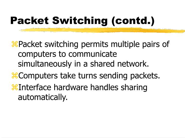 Packet switching contd3
