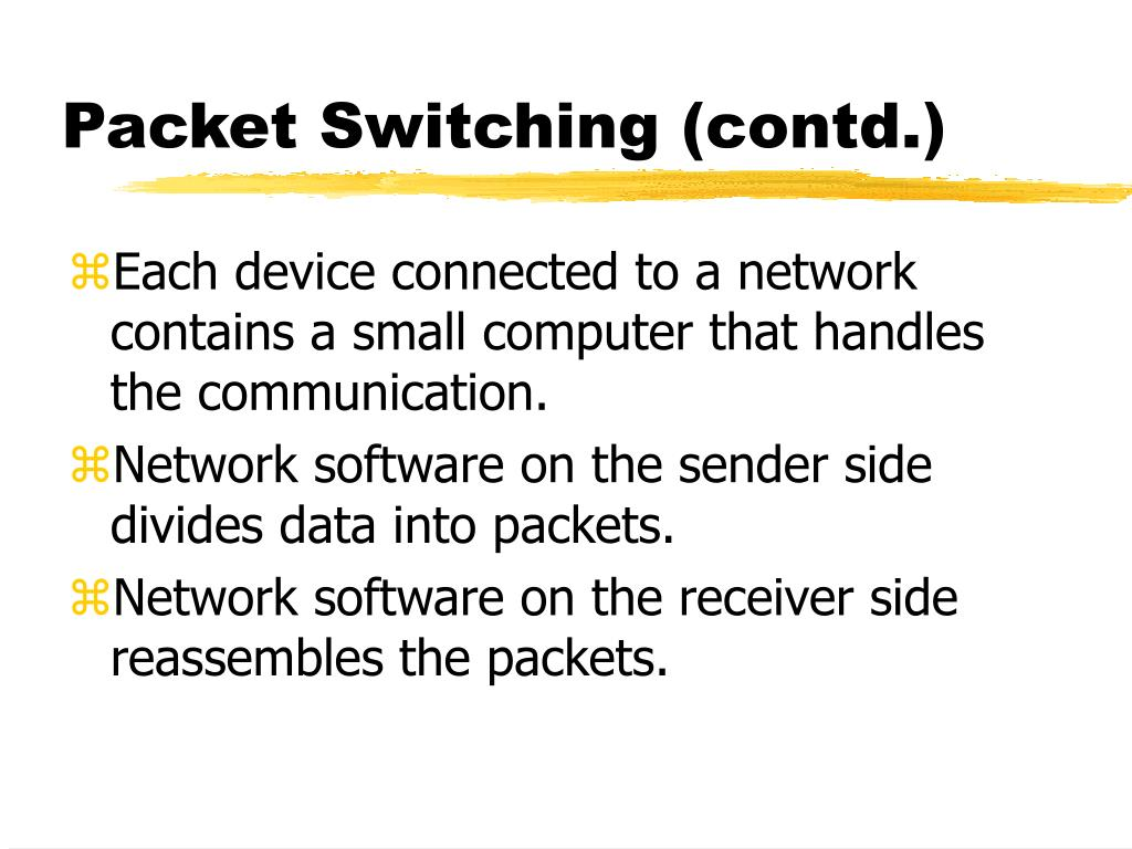 Packet Switching (contd.)