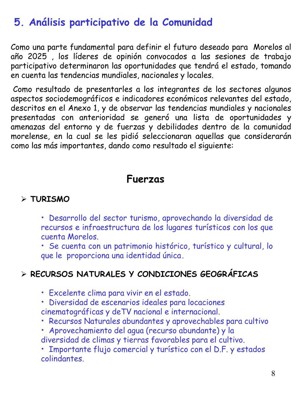 5. Análisis participativo de la Comunidad