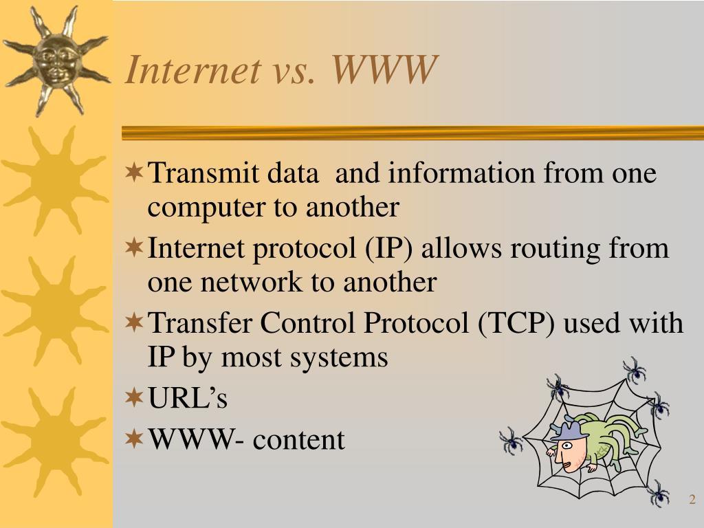 Internet vs. WWW