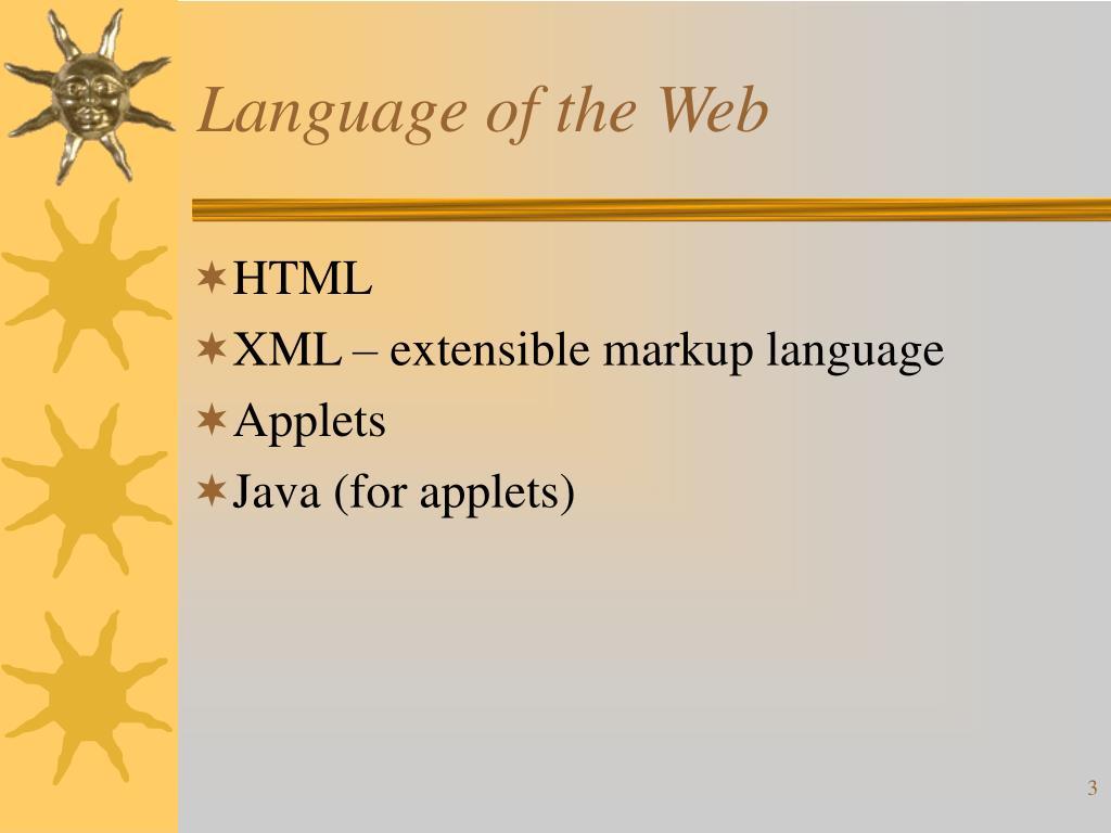 Language of the Web