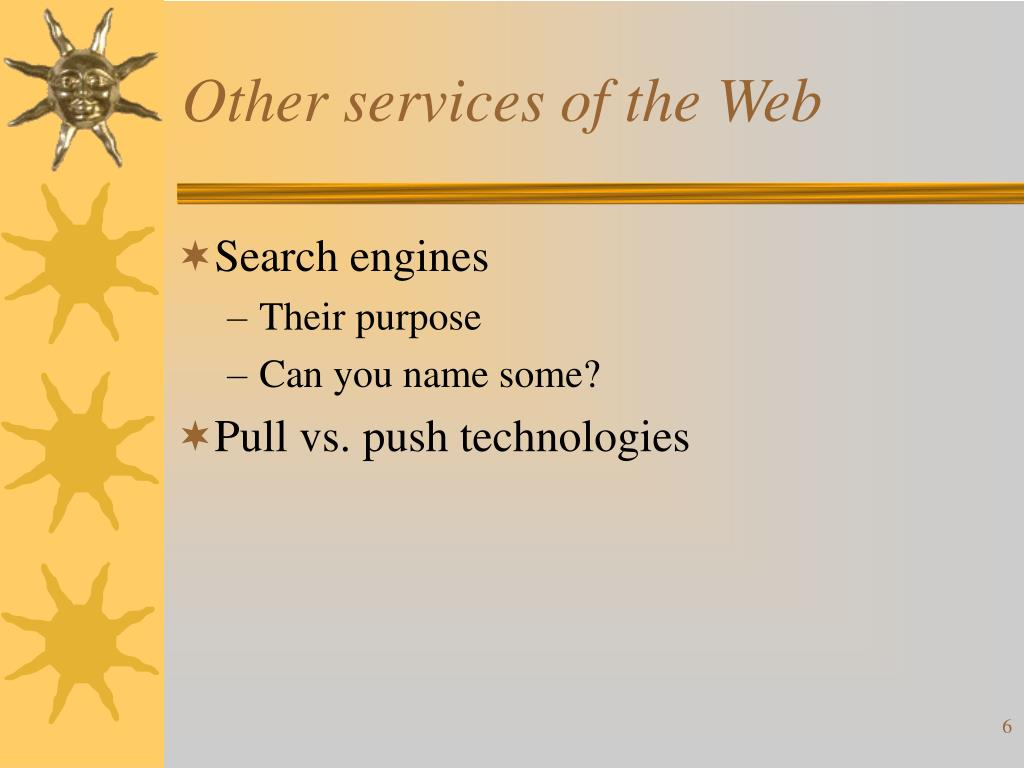 Other services of the Web