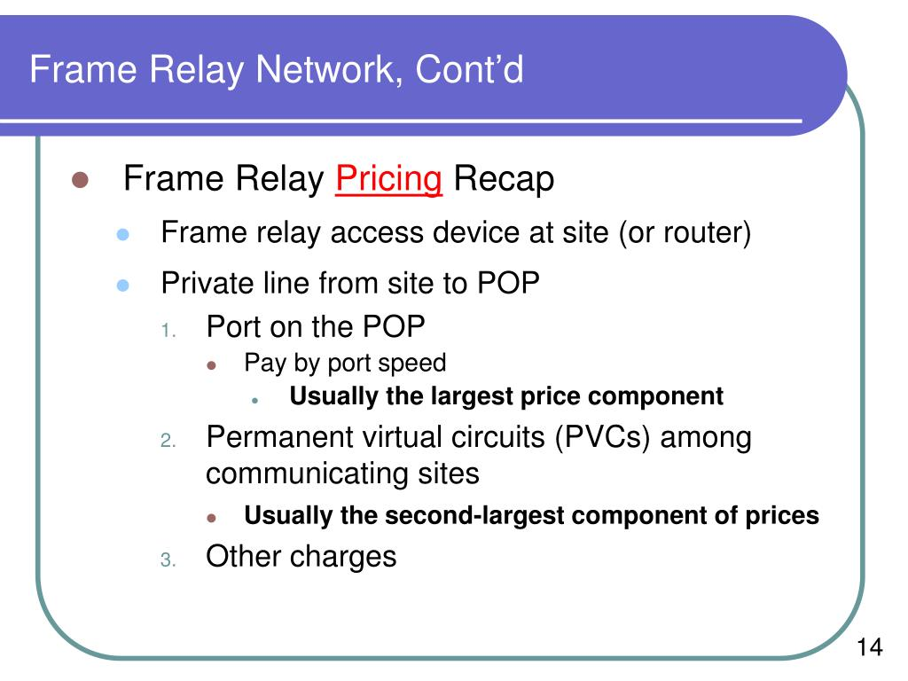 Frame Relay Network, Cont'd