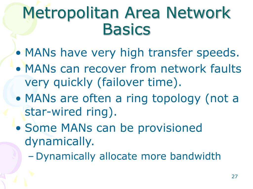 Metropolitan Area Network Basics