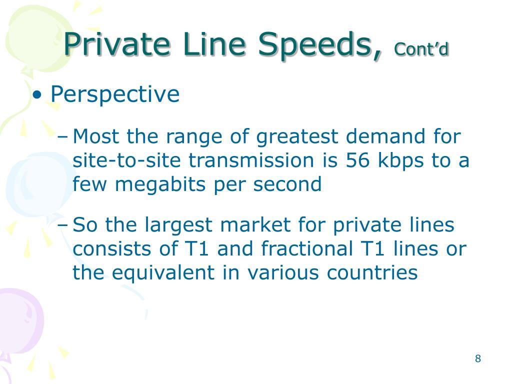 Private Line Speeds,