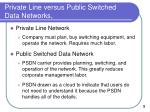 private line versus public switched data networks