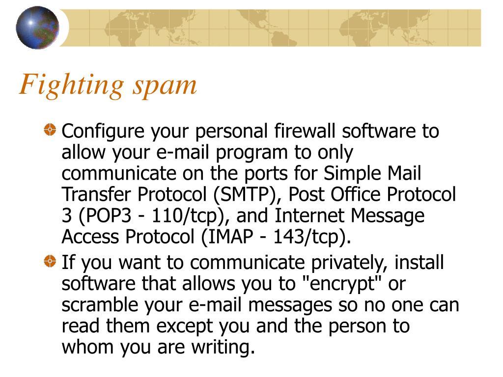 Fighting spam